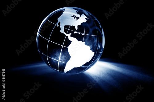 In de dag Wereldkaart Globe