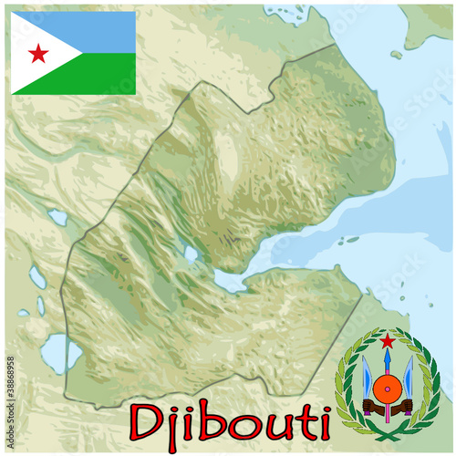 djibouti africa map flag emblem - Buy this stock vector and explore ...