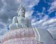 Buddha and white sky.