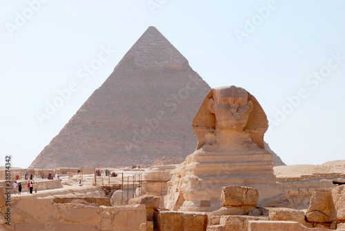Majestic statue of the Sphinx