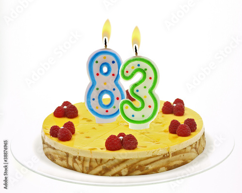 Fotografia  cake with number candles