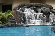 Swimming Pool Lava Rock Waterf...