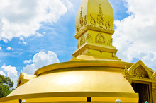 Gold Temple In Wat Nong Pah Po...