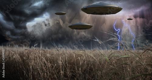 Aliens Invade Canvas Print