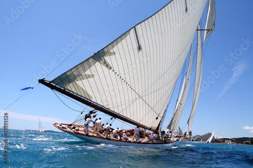 Fotografie, Obraz  team spirit esprit d'équipe voilier regate mer ocean yachting