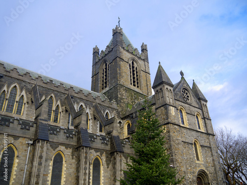Photo  Christ Church Anglican Cathedral in Dublin City Ireland