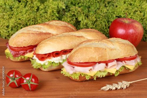 Staande foto Snack Sandwiches