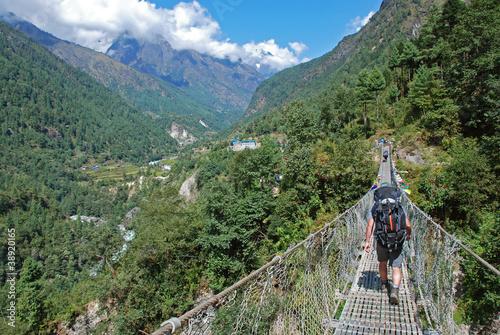 Staande foto Nepal Trekking in Himalayas, Nepal