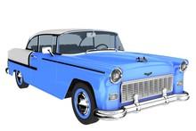 1950s Car In Blue