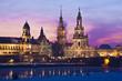 Dresden im Winter bei Nacht