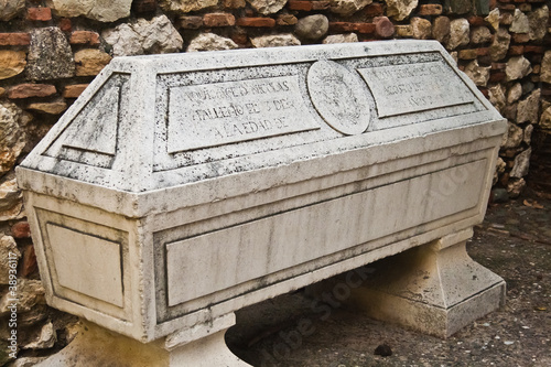Roman sarcophagus Canvas Print
