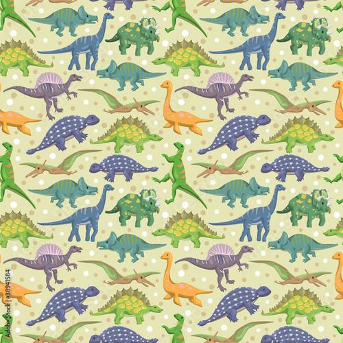 Naklejka na meble seamless dinosaur pattern