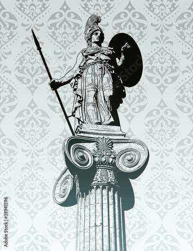 Stampa su Tela Statue of Athena
