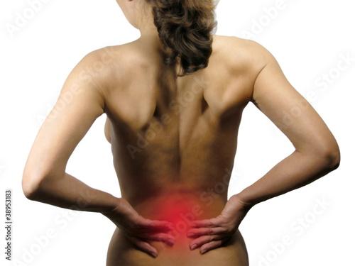 Rückenschmerzen Canvas Print