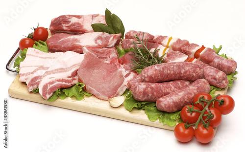Staande foto Vlees Carne di maiale per grigliata