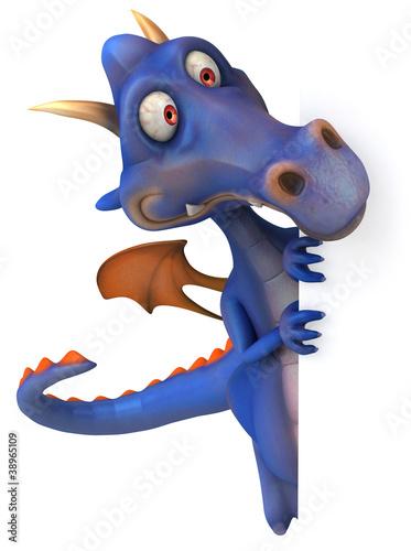 Deurstickers Magische wereld Dragon