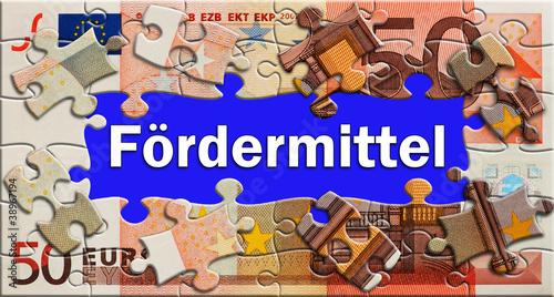 Fotografía  Fördermittel - Puzzle - Gelschein