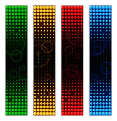 Abstract colorful circles banner backgrounds