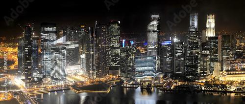 Tuinposter Singapore Singapore at Night