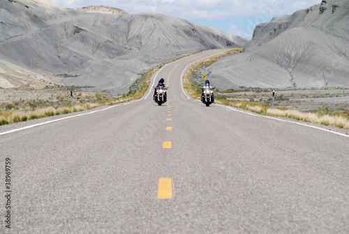 Papiers peints Route 66 Riding Badlands