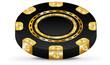 Gold casino chip