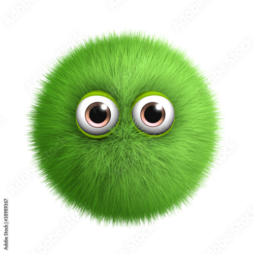 Foto auf Leinwand Nette Monster green toy