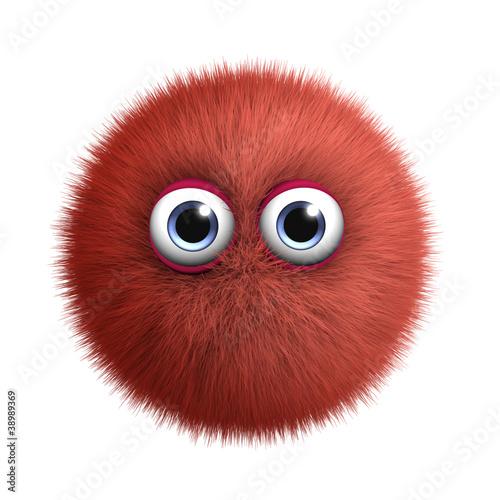 Keuken foto achterwand Sweet Monsters red monster