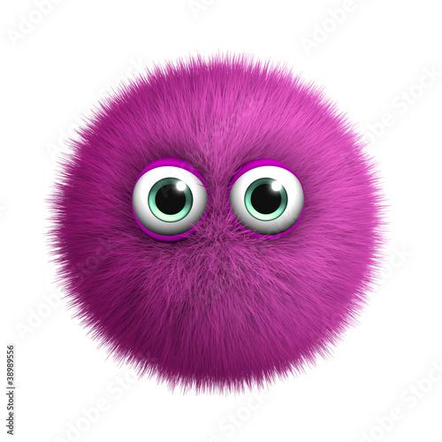 Poster de jardin Doux monstres furry pink monster