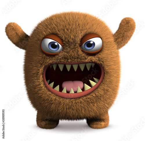 Foto op Aluminium Sweet Monsters cute furry alien