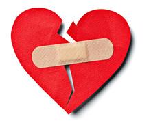 Broken Heart Love Relationship And Plaster Bandage