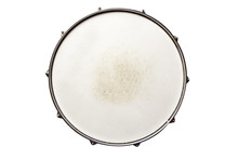 Snare Drum Top View Isolated O...
