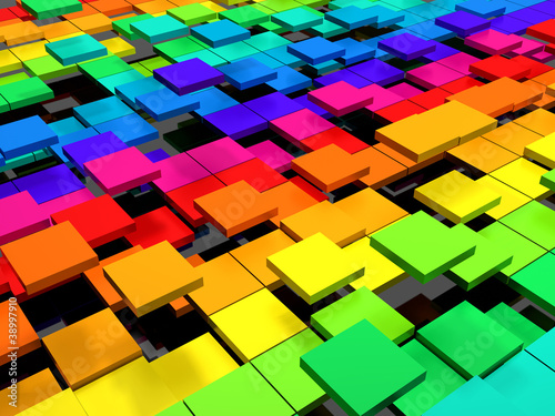 Colorful dynamic square background