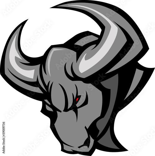 Fotografie, Obraz  Mascot Bull Vector Illustration
