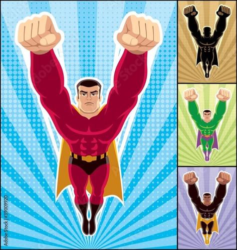 Poster Superheroes Superhero Flying