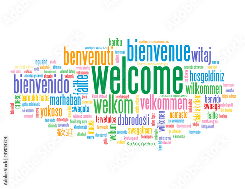 Welcome tag cloud customer service greetings home smile card welcome tag cloud customer service greetings home smile card m4hsunfo