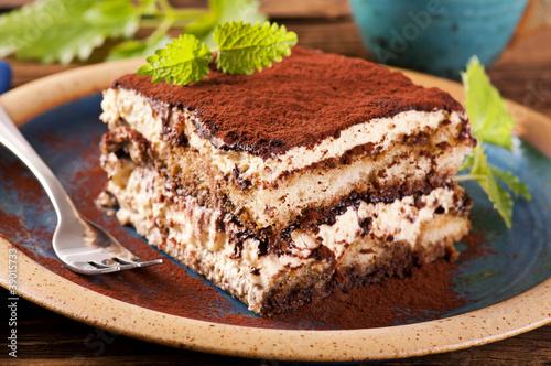Spoed Foto op Canvas Dessert Tiramisu