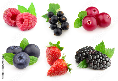 Collage from berries