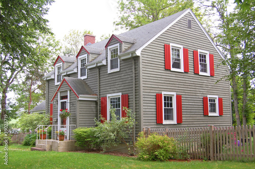 country american house Fototapet