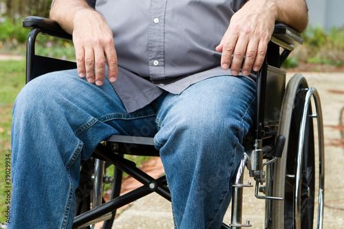Fotografia, Obraz  Paraplegic In Wheelchair
