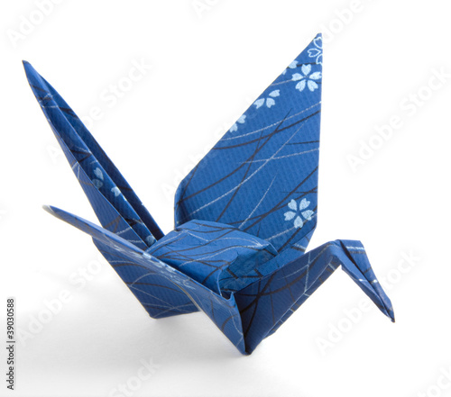 Dark Blue Origami Crane