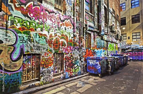 Spoed Foto op Canvas Graffiti collage Graffiti