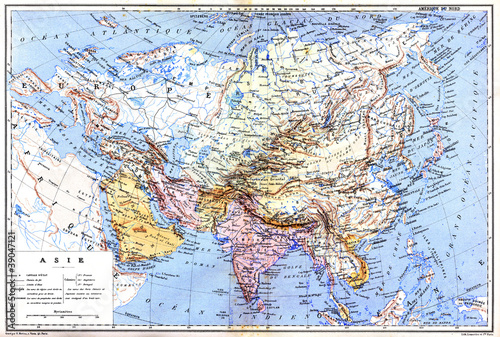 Garden Poster World Map The map of Asia