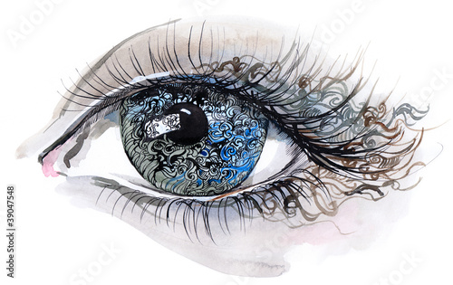 abstrakcyjna-ilustracja-przedstawiajaca-blekitne-ludzie-oko