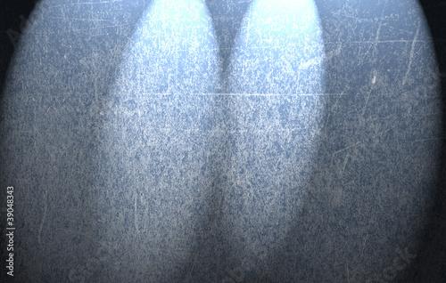 Fototapeta Niebieskie grunge tło i światła obraz