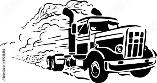 Fototapeta premium Vintage ciężarówka