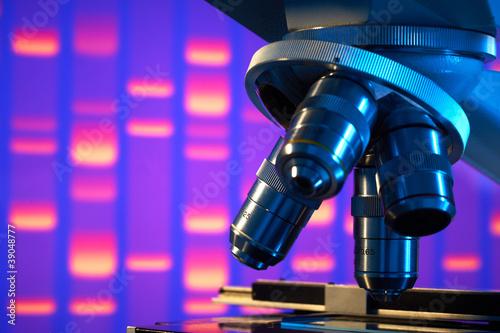 Valokuva  Close up of laboratory microscope