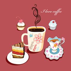 Fototapeta Kawa cup of coffee