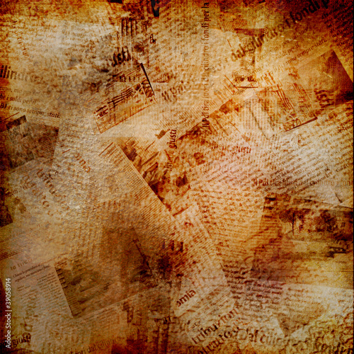 Poster Kranten Grunge abstract background with old newspaper