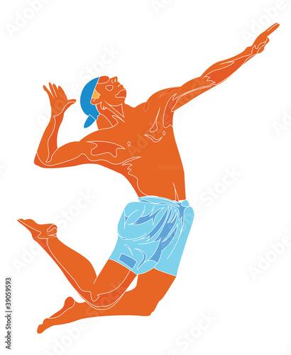 Fototapeta Beach volley player obraz na płótnie