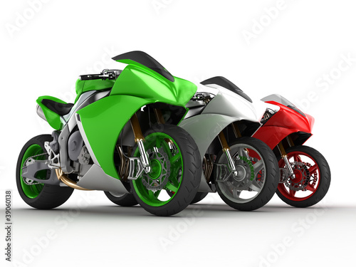 Photo sur Aluminium Motocyclette Moto italia